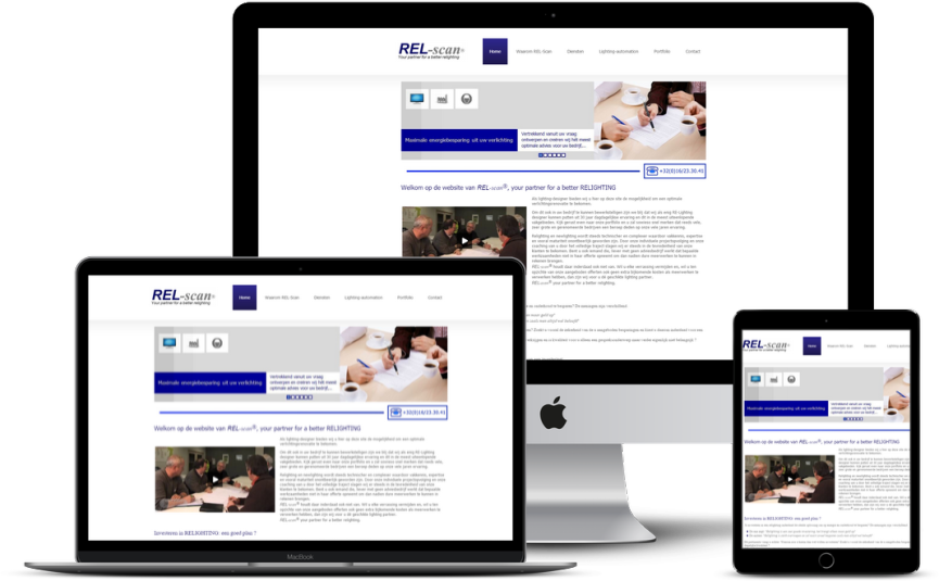 Website: Licht specialist REL-Scan