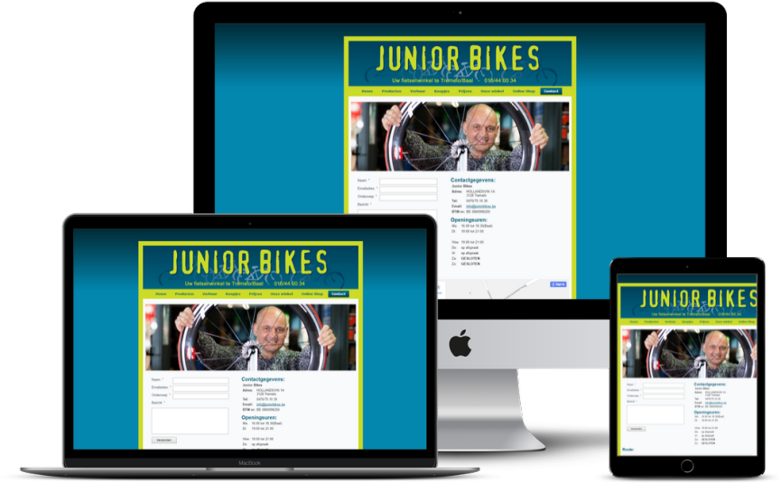 Website: Fietsenhersteller - Junior Bikes