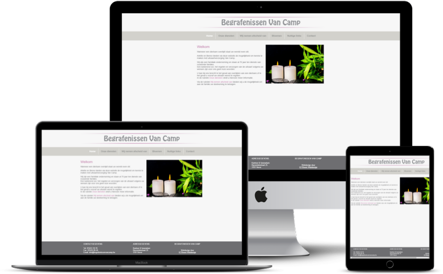 Website: Begrafenisondernemer - Van Camp